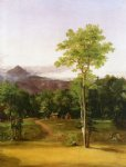 thomas cole art - cabin in the woods north conway new hampshire by thomas cole