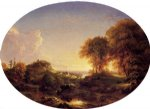 thomas cole art - catskill landscape by thomas cole