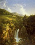 scenery acrylic paintings - genesee scenery by thomas cole