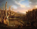 thomas cole lake with dead trees (catskill) painting 80090