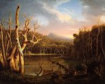 thomas cole lake with dead trees painting