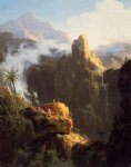 thomas cole landscape composition st. john in the wilderness painting