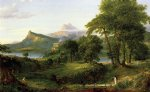 thomas cole original paintings - the course of empire the arcadian or pastoral state by thomas cole