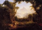 thomas cole original paintings - the gardenn of eden by thomas cole