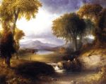 thomas doughty famous paintings - autumn landscape by thomas doughty