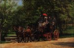 thomas eakins art - a may morning in the park by thomas eakins