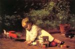 thomas eakins famous paintings - baby at play by thomas eakins