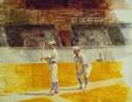 thomas eakins famous paintings - baseball players practicing by thomas eakins