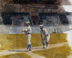 thomas eakins baseball players practicing painting