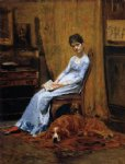 thomas eakins the artist s wife and his setter dog painting-24646