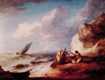 a rocky coastal scene by thomas gainsborough painting