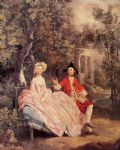 thomas gainsborough famous paintings - conversation in a park by thomas gainsborough