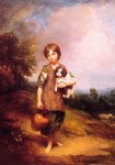 thomas gainsborough cottage girl with dog and pitcher painting-24499