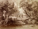 thomas gainsborough dancers with musicians in a woodland glade painting