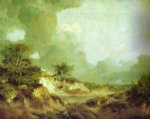landscape with sandpit by thomas gainsborough painting
