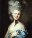 canvas prints - portrait of a lady in blue by thomas gainsborough