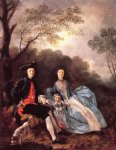 thomas gainsborough portrait of the artist with his wife and daughter painting
