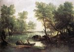 thomas gainsborough famous paintings - river landscape by thomas gainsborough