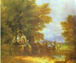 the harvest wagon by thomas gainsborough painting