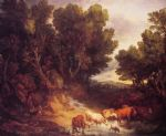 thomas gainsborough famous paintings - the watering place by thomas gainsborough