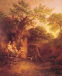 thomas gainsborough the woodcutters return painting