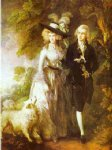 thomas gainsborough william hallett and his wife elizabeth nee stephen painting