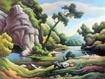 canvas prints - cave spring by thomas hart benton