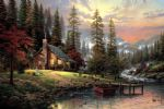 famous painting - a peaceful retreat by thomas kinkade