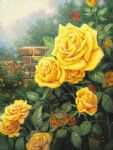 a perfect yellow rose by thomas kinkade painting