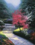 afternoon light dogwood by thomas kinkade painting
