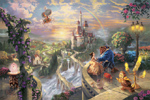 thomas kinkade beauty and the beast falling in love prints