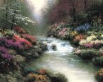thomas kinkade besides still waters painting