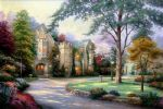 beyond summer gate by thomas kinkade painting