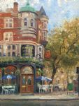 bloomsbury cafe by thomas kinkade painting