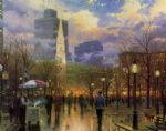 boston by thomas kinkade painting