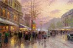paris famous paintings - boulevard of lights paris by thomas kinkade