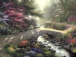 bridge of faith by thomas kinkade painting
