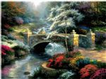bridge of hope by thomas kinkade painting