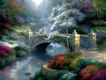 handmade art - bridge of hope by thomas kinkade