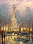 thomas kinkade chicago water tower painting 78004