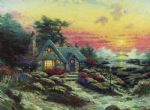 thomas kinkade cottage by the sea oil paintings