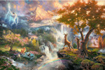 thomas kinkade disney Bambi First Year art