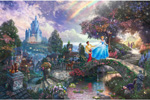 thomas kinkade disney Cinderella Wishes Upon A Dream art