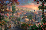 thomas kinkade disney Lady and the Tramp art