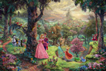 thomas kinkade disney Sleeping Beauty art