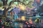 thomas kinkade disney The Princess and the Frog art