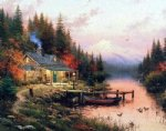 handmade art - end of a perfect day by thomas kinkade
