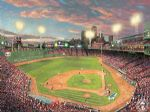 fenwaypark by thomas kinkade painting