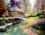 thomas kinkade friendship cottage painting-85599