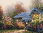 heather s hutch by thomas kinkade painting